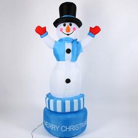 """Надувная фигура """"Снеговик"""" вертится вокруг себя, 210 см"""