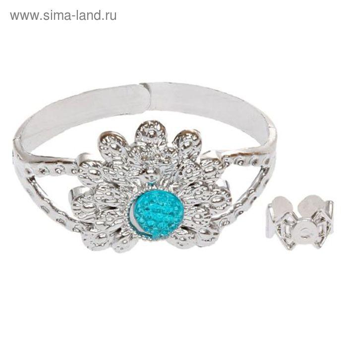 """Карнавальный набор """"Принцесса"""", 2 предмета: кольцо, браслет с камнями, цвета МИКС"""
