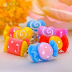Кольцо детское 'Выбражулька' сладкая жизнь, форма МИКС, цвет МИКС, безразмерное Ош