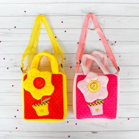 Мягкая сумочка «Цветочек», цвета МИКС