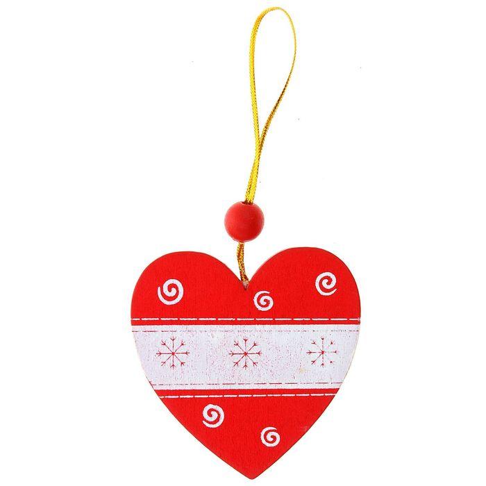 """Подвеска новогодняя """"Метель"""" в форме сердца"""
