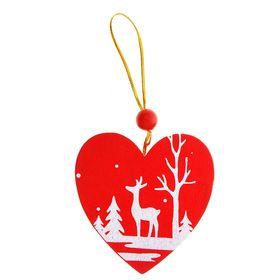 Подвеска новогодняя «Зимний лес полон чудес» в форме сердца в Донецке