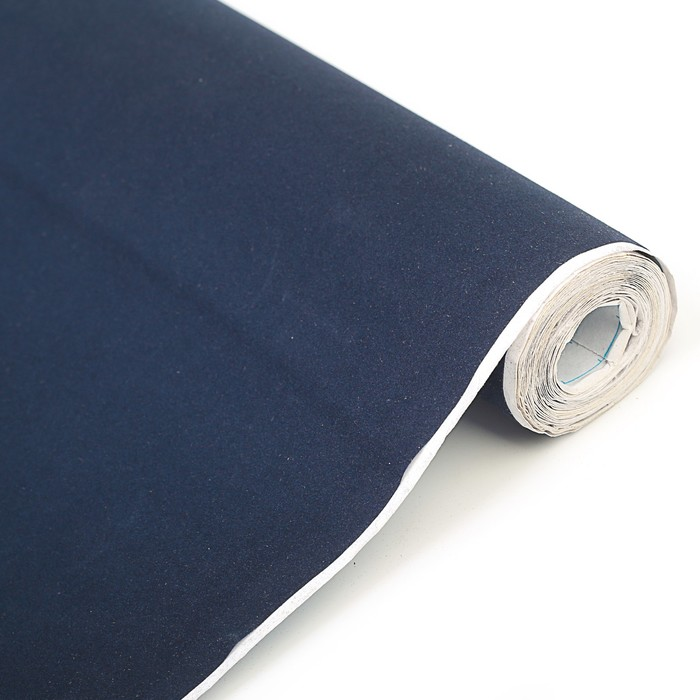 Плёнка самоклеящаяся, бархатная, синяя 0,45 х 3 м, 18 мкр