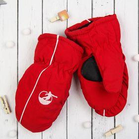 """Варежки детские """"Спорт"""", размер 18 (р-р произв. 18*3*9), цвет красный 65376"""