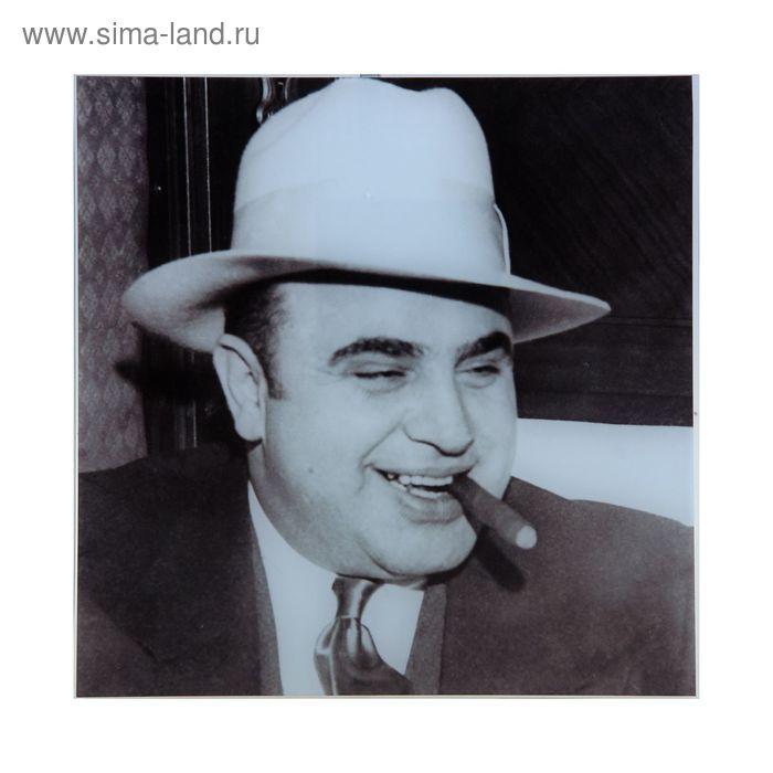 "Картина на стекле ""Аль Капоне"""