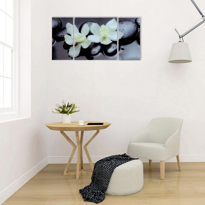 """Модульная картина на стекле """"Пара орхидей"""""""
