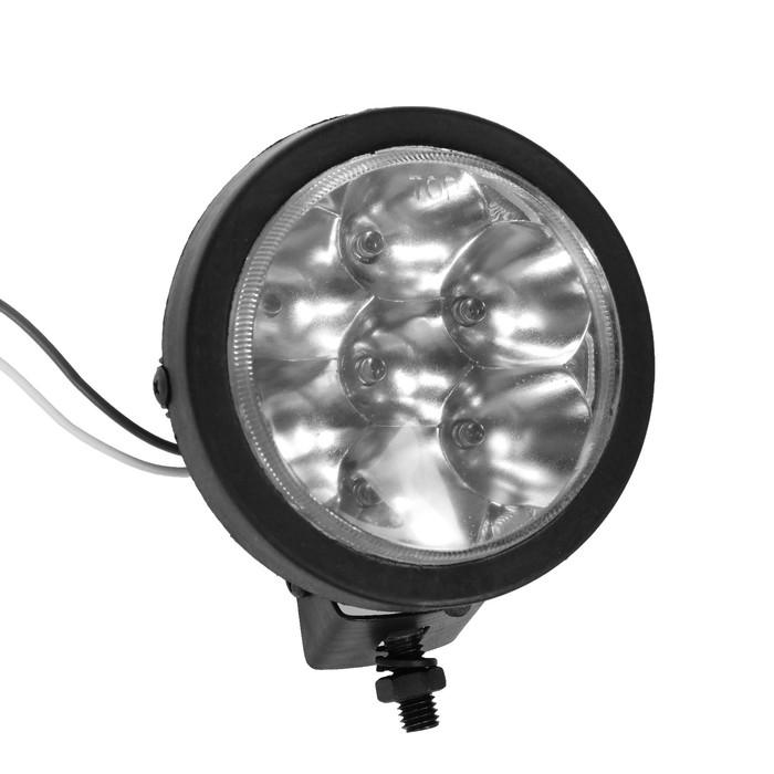Противотуманная фара d9.5 см, 7 LED, IP65, 12В, стекло белое, комплект 2 шт
