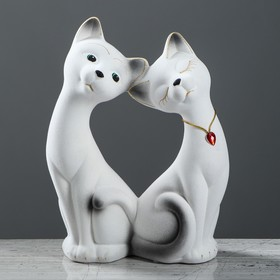 """Копилка """"Влюбленная пара"""", покрытие флок, белая, 30 см"""