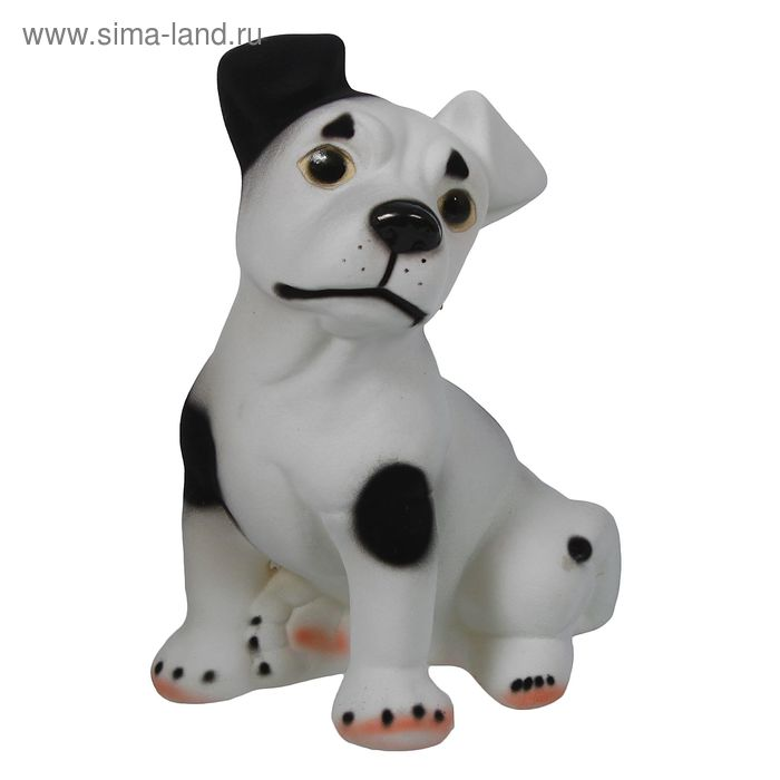 """Копилка """"Собака Рэкс"""" флок, чёрно-белая"""