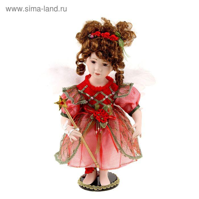 """Кукла коллекционная """"Ангелочек в красном платье"""""""
