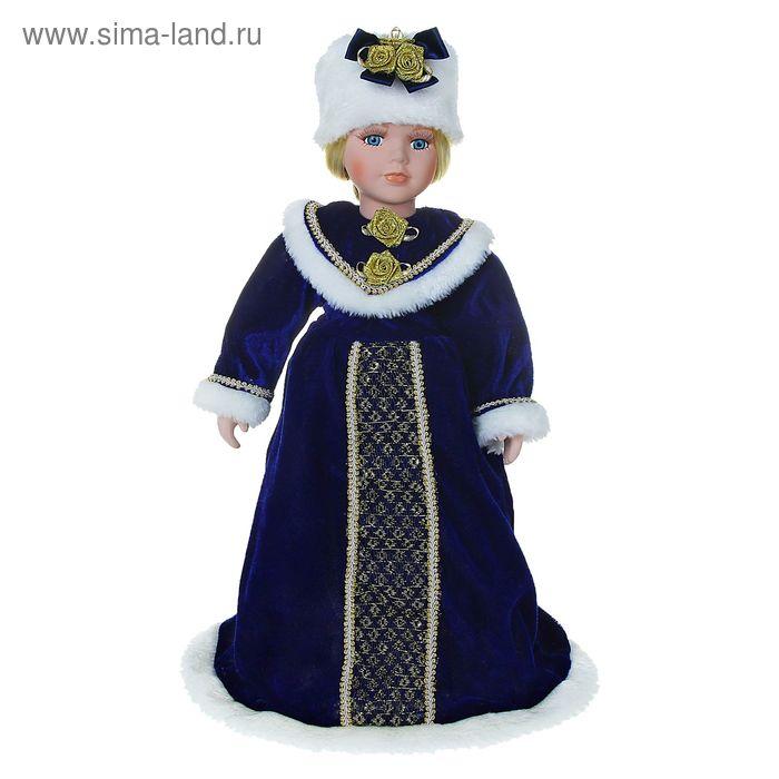 """Кукла коллекционная """"Снегурочка в белой шапочке"""""""