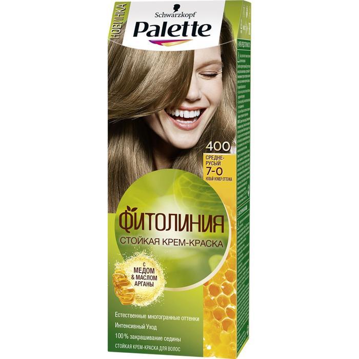Краска для волос PALETTE Фитолиния 400, средне-русый