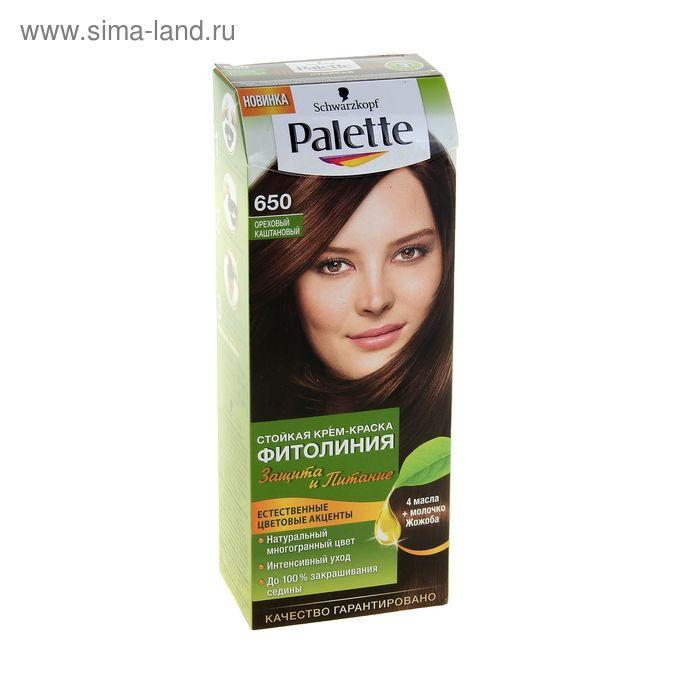 Краска для волос PALETTE Фитолиния 650, ореховый каштановый, 50 мл