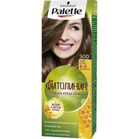 Крем-краска для волос Palette Фитолиния, тон 500, тёмно-русый
