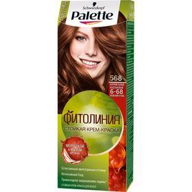 Крем-краска для волос Palette Фитолиния, тон 568, карамельный каштановый