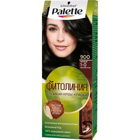 Крем-краска для волос Palette Фитолиния, тон 900, чёрный