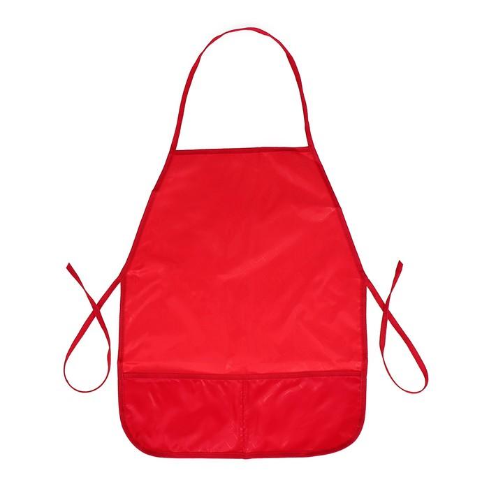 Фартук для труда 485х395 мм, Стандарт, красный