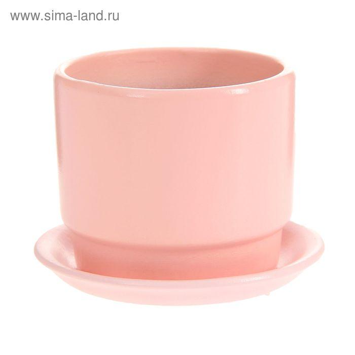 """Кашпо """"Натур"""" розовое 0,3 л"""