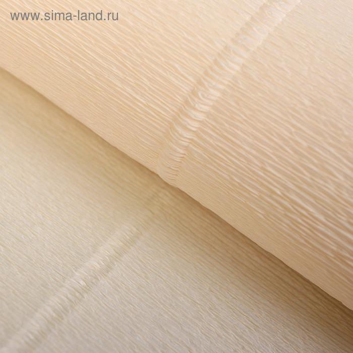 Бумага гофрированная, 603 слоновая кость, 0,5 х 2,5 м