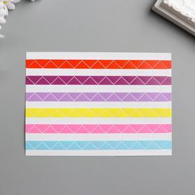 Набор цветных уголков с кармашком для фотографий, 102 шт. - фото 7354845