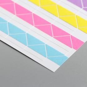 Набор цветных уголков с кармашком для фотографий, 102 шт. - фото 7354846