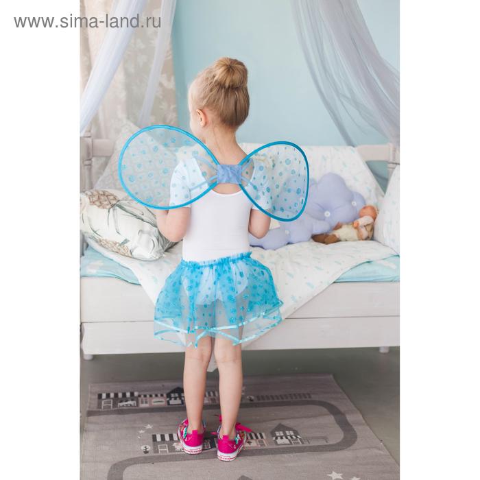"""Карнавальный набор """"Маленькое чудо"""", 2 предмета: крылья, юбка, 3-6 лет, цвет голубой"""