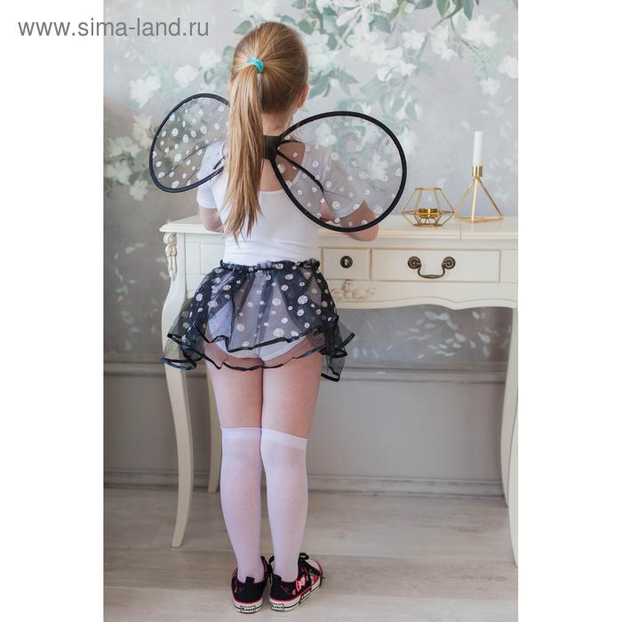 """Карнавальный набор """"Маленькое чудо"""", 2 предмета: крылья, юбка, 3-6 лет, цвет чёрный"""
