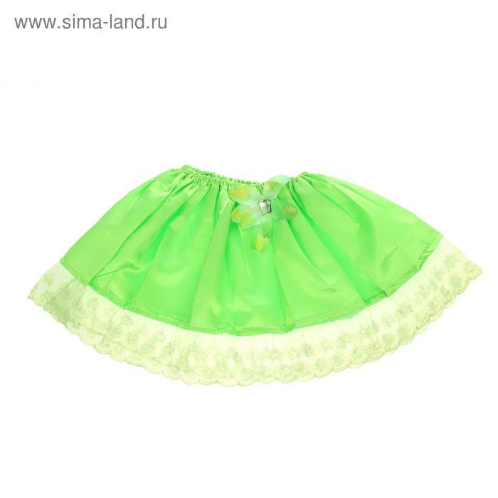"""Карнавальная юбка """"Малышка"""" с цветком 4-6 лет"""