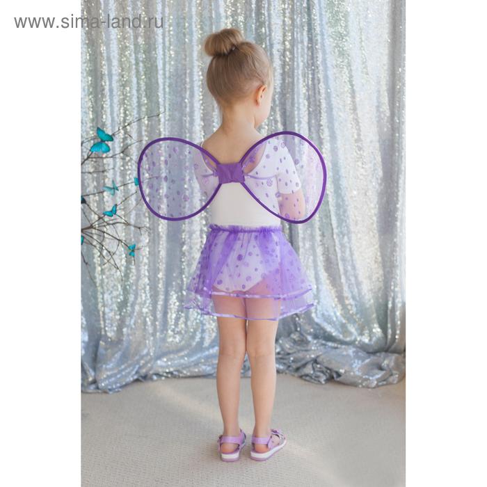 """Карнавальный набор """"Маленькое чудо"""", 2 предмета: крылья, юбка, 3-6 лет, цвет фиолетовый"""