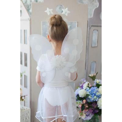 Карнавальный набор «Маленькая фея», 4 предмета: юбка, крылья, ободок, жезл, 3-4 года