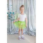 Карнавальный набор «Маленькое чудо», 2 предмета: крылья, юбка, 3-6 лет, цвет зелёный - фото 105446371
