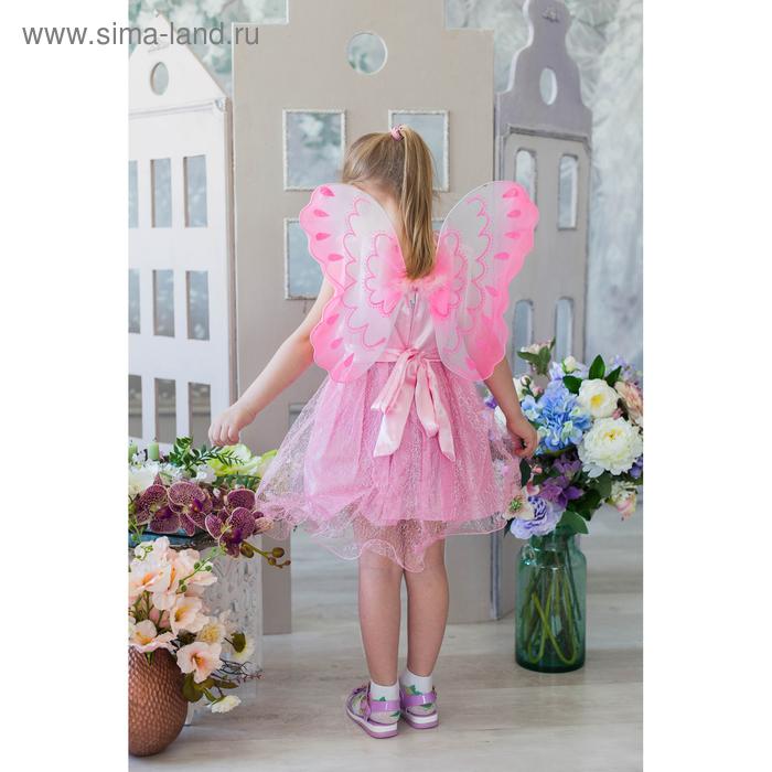 """Карнавальный набор """"Модница"""" с бантиком, 2 предмета: платье, крылья, 4-6 лет"""
