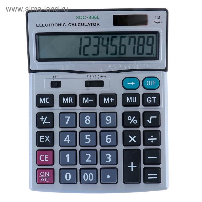 Калькулятор настольный 12-разрядный SDC-888L двойное питание