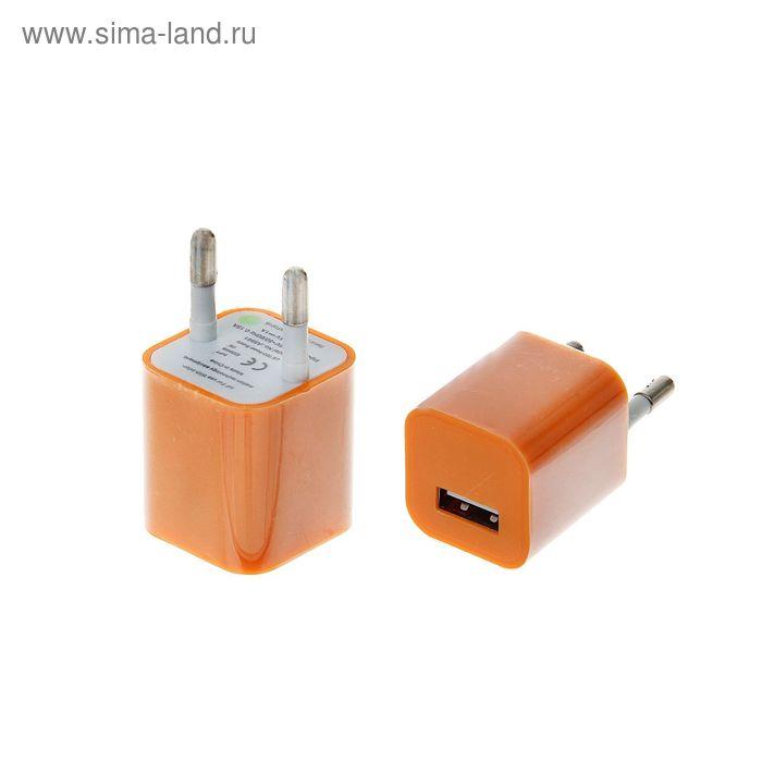 Сетевое зарядное устройство универсальное D-012 USB, пластик микс, 1, 0A