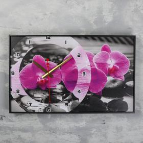 """Часы настенные, серия: Цветы, """"Магия Орхидей"""", 57х35х4  см, микс в Донецке"""
