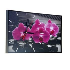 """Часы настенные, серия: Цветы, """"Магия Орхидей"""", 57х35х4  см, микс"""