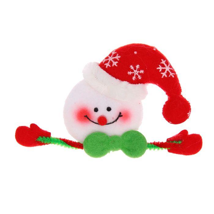 """Значок световой """"Снеговик"""""""