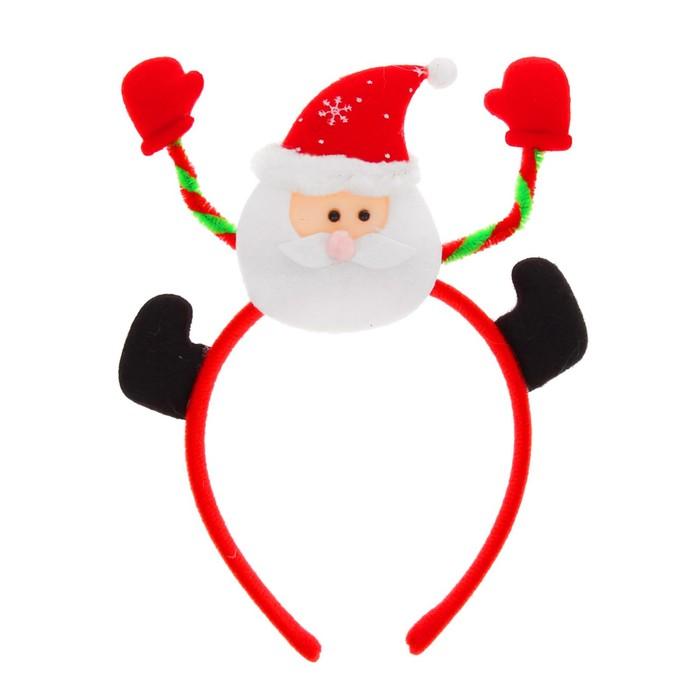 """Карнавальный ободок """"Дед Мороз"""", снежинки на шапке"""
