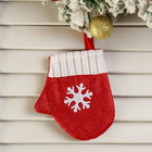 """Pendant """"Red mitten with snowflake"""""""