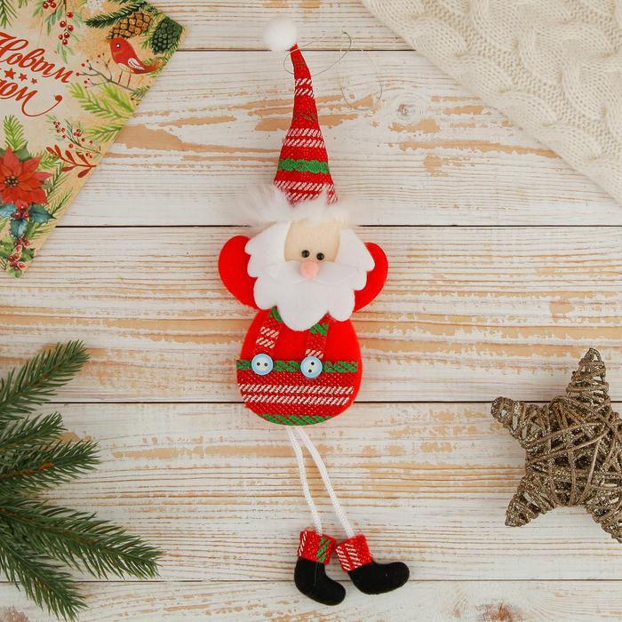 """Мягкая игрушка """"Дед Мороз в красных штанишках"""""""