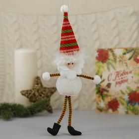 """Мягкая световая игрушка """"Дед Мороз в колпаке - длинные ручки и ножки"""" 25*5 см"""