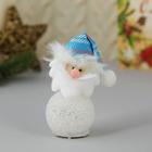 "Light Christmas tree decoration ""Santa Claus in a blue cap"""