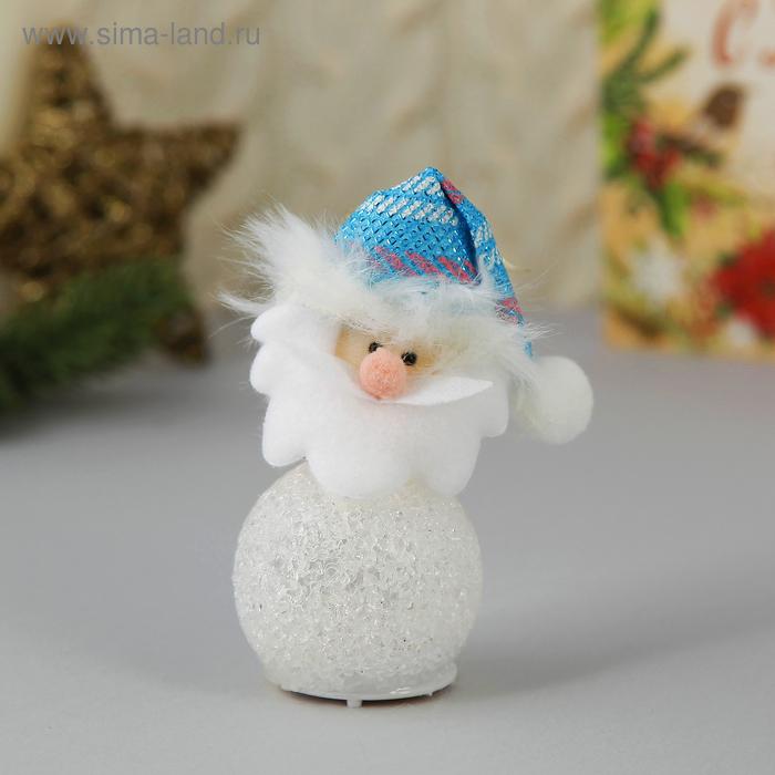 """Световая ёлочная игрушка """"Дед Мороз в голубом колпаке"""""""