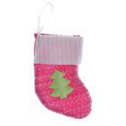 """Носок для подарка """"Ёлочка"""" (розовый)"""