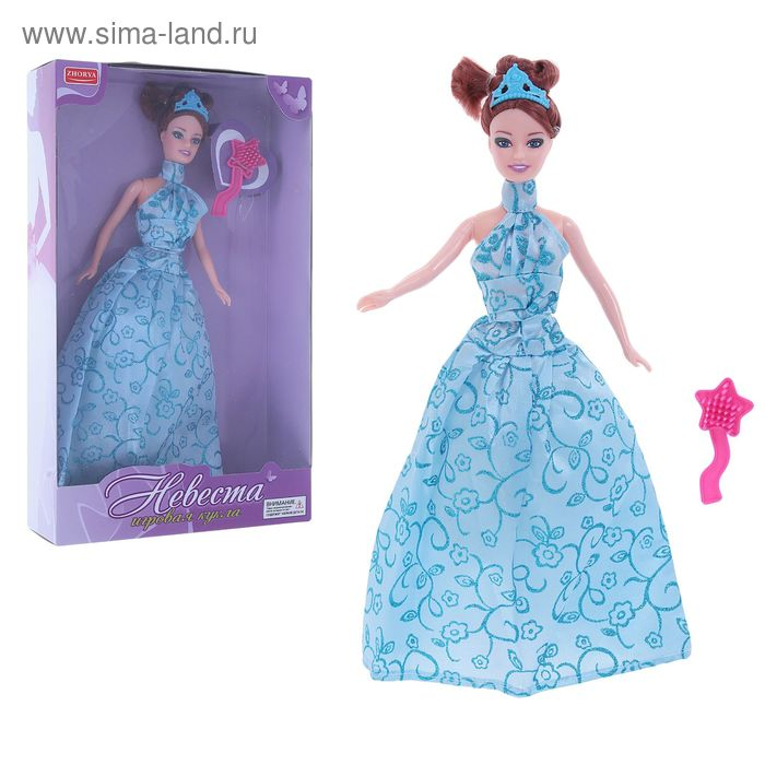 """Кукла """"Невеста"""" в пышном платье, с расческой, сгибаются ноги, МИКС"""