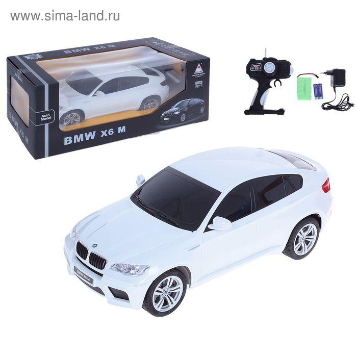 Машина радиоуправляемая BMW X6 M, с аккумулятором, 1:14, световые эффекты, цвета МИКС