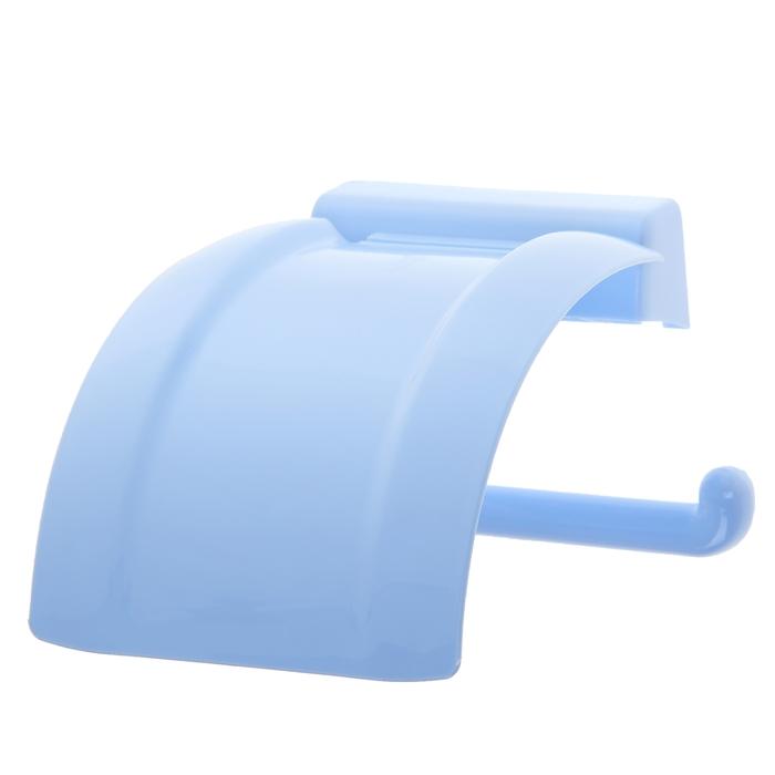 Держатель для туалетной бумаги, цвет голубой