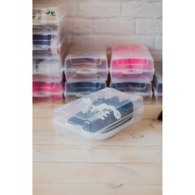 Короб для хранения обуви IDEA «Реноме», 32×19×10,5 см, цвет прозрачный