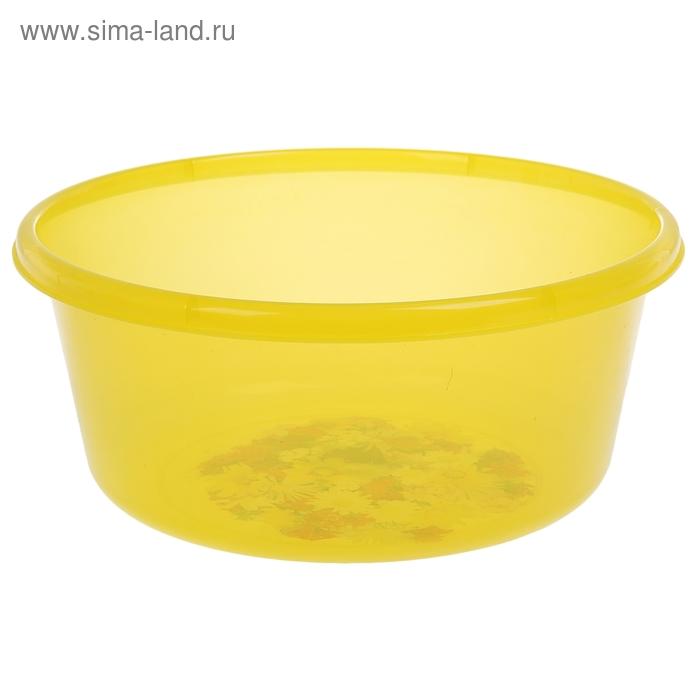 """Таз 8 л, круглый """"Деко"""" прозрачный, цвет жёлтый"""