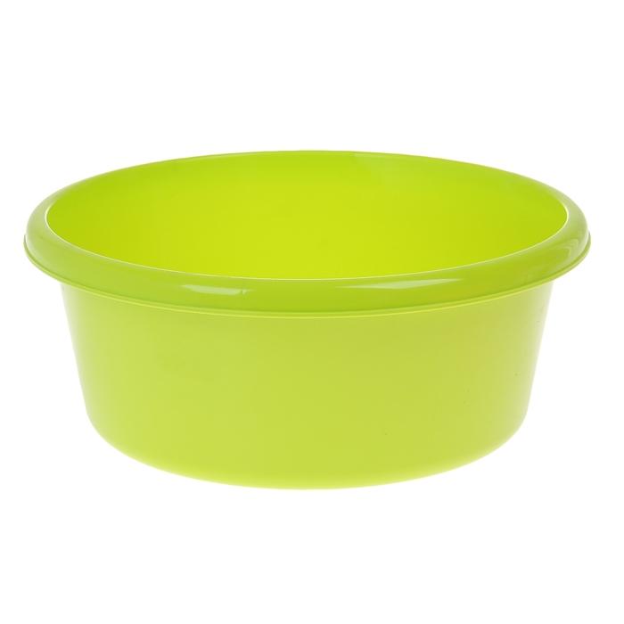 Таз круглый 11 л, цвет салатовый